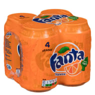 Fanta Orange Cans 4 x 330ml