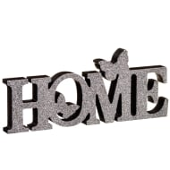 Home Butterflies Word Block - Grey