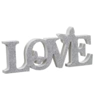 Love Butterflies Word Block - Silver
