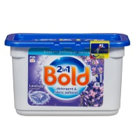 Bold 2 in 1 Detergent & Fabric Softener Lavender & Camomile 11 x 35g
