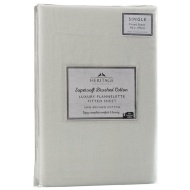 Supersoft Brushed Cotton Fitted Sheet Single