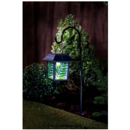Stained Glass Hanging Lantern with Solar Light - Leaf