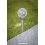 Crackle Ball Solar Light Post
