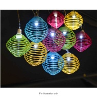 10 Spiral Ball Solar String Lights