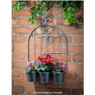 Deluxe Triple Pot Wall Planter