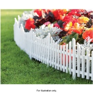 3pk White Picket Fence