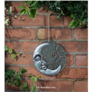 Ceramic Moon Wall Plaque