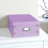 Plain Paper Storage Box Medium - Purple