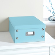 Plain Paper Storage Box Medium - Light Blue