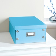 Plain Paper Storage Box Medium - Blue