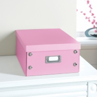 Plain Paper Storage Box Medium - Pink