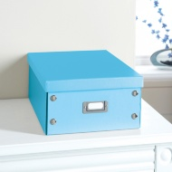 Plain Paper Storage Box Large - Blue