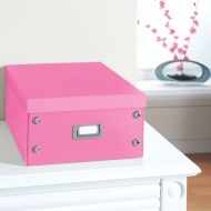 Plain Paper Storage Box Large - Pink