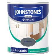 Johnstone's One Coat Satinwood Paint - Urban Sky 750ml