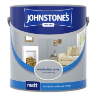 Johnstone's Paint Vinyl Matt Emulsion - Manhattan Grey 2.5L