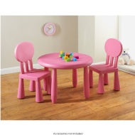Kids Table & 2 Chairs Pink