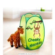 Kids Pop Up Laundry Hamper Cheeky Monkey