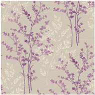 Arthouse Imagine Fern Plum Motif Vinyl Wallpaper