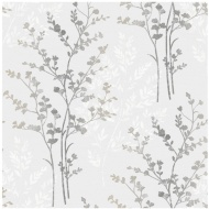 Arthouse Imagine Fern Silver Motif Vinyl Wallpaper