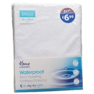Waterproof Terry Towelling Mattress Protector - Single