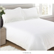 Hereford Embroidered Trim Double Duvet Set
