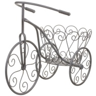 Vintage Tricycle Planter - Grey