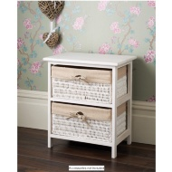 Juliet 2 Drawer Basket Unit