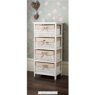 Juliet 4 Drawer Basket Unit