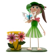 Dancing Girl Novelty Planter - Green