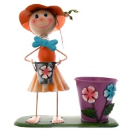 Dancing Girl Novelty Planter - Orange