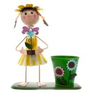 Dancing Girl Novelty Planter - Yellow