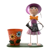 Dancing Girl Novelty Planter - Pink