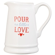 Ceramic Jug - Pour A Little Love