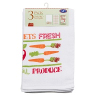 Oxford Velour Tea Towels 3pk - Farm