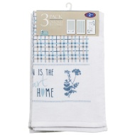 Oxford Velour Tea Towels 3pk - Home