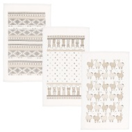 Oxford Velour Tea Towels 3pk - Alpaca