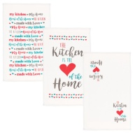 Oxford Velour Tea Towels 3pk - Kitchen is Heart of Home