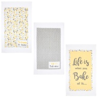 Oxford Velour Tea Towels 3pk - Life is What You Bake It