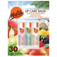 Malibu Lip Care Balm Factor 30 - 3pk