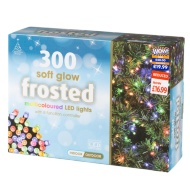 300 Soft Glow Frosted Christmas Lights - Multi