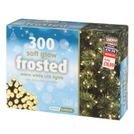 300 Soft Glow Frosted Christmas Lights - Warm White
