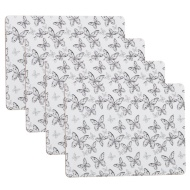 Placemats 4pk - Grey Butterfly