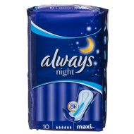 Always Maxi Night Sanitary Pads 10pk