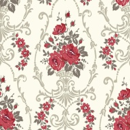 Arthouse Opera Darcy Red Motif Wallpaper