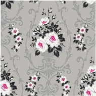 Arthouse Opera Darcy Silver Motif Wallpaper