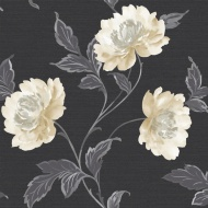 Arthouse Imagine Bronte Black Motif Vinyl Wallpaper