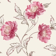 Arthouse Imagine Bronte Red  Motif Vinyl  Wallpaper