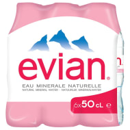 Evian Natural Mineral Water 6 x 500ml