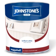 Johnstone's Eggshell Paint - Brilliant White 2.5L