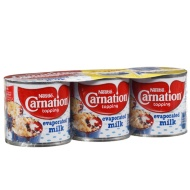 Nestle Carnation Topping Evaporated Milk 3pk